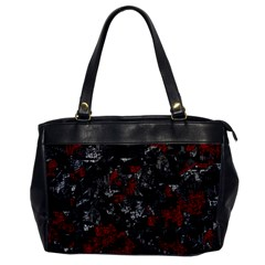 Gray and red decorative art Office Handbags