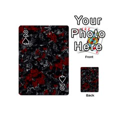 Gray and red decorative art Playing Cards 54 (Mini)