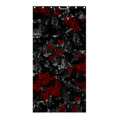Gray and red decorative art Shower Curtain 36  x 72  (Stall)