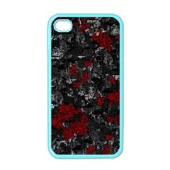 Gray and red decorative art Apple iPhone 4 Case (Color)