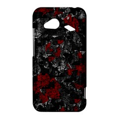 Gray and red decorative art HTC Droid Incredible 4G LTE Hardshell Case