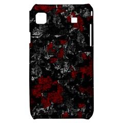 Gray and red decorative art Samsung Galaxy S i9000 Hardshell Case