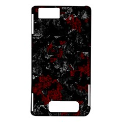 Gray and red decorative art Motorola DROID X2