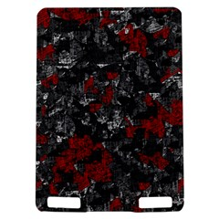 Gray and red decorative art Kindle Touch 3G
