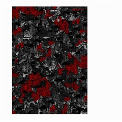 Gray and red decorative art Large Garden Flag (Two Sides)