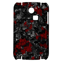 Gray and red decorative art Samsung S3350 Hardshell Case