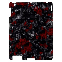 Gray and red decorative art Apple iPad 2 Hardshell Case