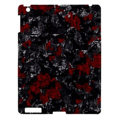 Gray and red decorative art Apple iPad 3/4 Hardshell Case