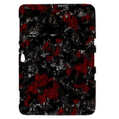 Gray and red decorative art Samsung Galaxy Tab 8.9  P7300 Hardshell Case