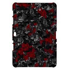 Gray and red decorative art Samsung Galaxy Tab 10.1  P7500 Hardshell Case