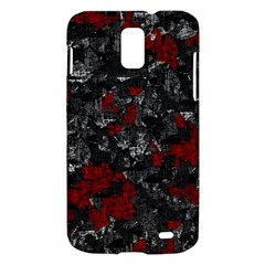 Gray and red decorative art Samsung Galaxy S II Skyrocket Hardshell Case