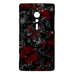 Gray and red decorative art Sony Xperia ion