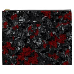 Gray and red decorative art Cosmetic Bag (XXXL)