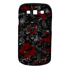 Gray and red decorative art Samsung Galaxy S III Classic Hardshell Case (PC+Silicone)