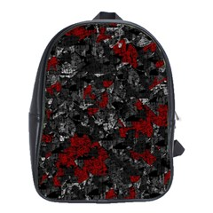 Gray and red decorative art School Bags (XL)
