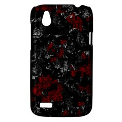 Gray and red decorative art HTC Desire V (T328W) Hardshell Case