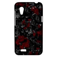 Gray and red decorative art HTC Desire VT (T328T) Hardshell Case