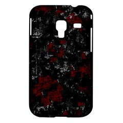 Gray and red decorative art Samsung Galaxy Ace Plus S7500 Hardshell Case