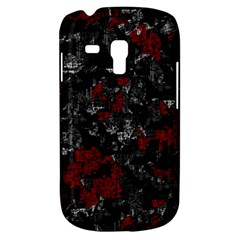 Gray and red decorative art Samsung Galaxy S3 MINI I8190 Hardshell Case