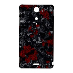 Gray and red decorative art Sony Xperia TX