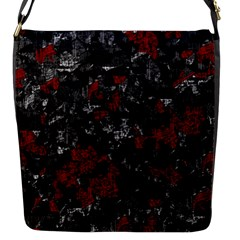 Gray and red decorative art Flap Messenger Bag (S)