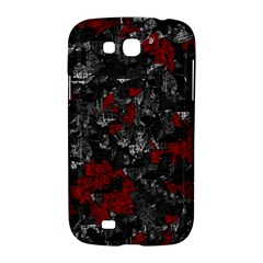 Gray and red decorative art Samsung Galaxy Grand GT-I9128 Hardshell Case
