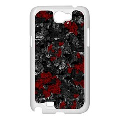Gray and red decorative art Samsung Galaxy Note 2 Case (White)
