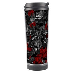 Gray and red decorative art Travel Tumbler