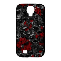 Gray and red decorative art Samsung Galaxy S4 Classic Hardshell Case (PC+Silicone)