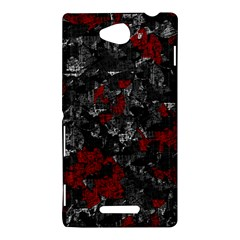 Gray and red decorative art Sony Xperia C (S39H)