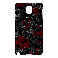 Gray and red decorative art Samsung Galaxy Note 3 N9005 Hardshell Case