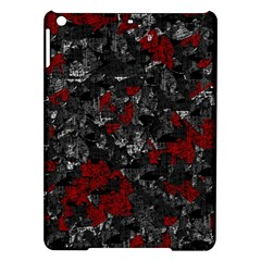 Gray and red decorative art iPad Air Hardshell Cases