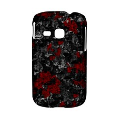 Gray and red decorative art Samsung Galaxy S6310 Hardshell Case