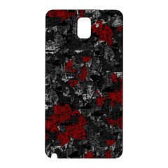 Gray and red decorative art Samsung Galaxy Note 3 N9005 Hardshell Back Case