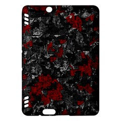 Gray and red decorative art Kindle Fire HDX Hardshell Case
