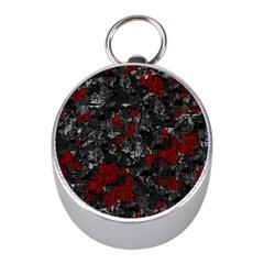 Gray and red decorative art Mini Silver Compasses
