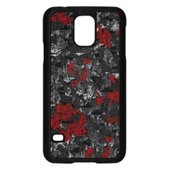 Gray and red decorative art Samsung Galaxy S5 Case (Black)