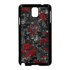 Gray and red decorative art Samsung Galaxy Note 3 Neo Hardshell Case (Black)
