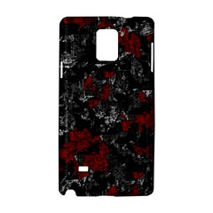 Gray and red decorative art Samsung Galaxy Note 4 Hardshell Case