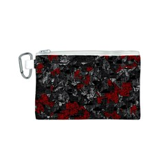 Gray and red decorative art Canvas Cosmetic Bag (S)