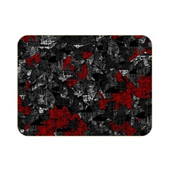 Gray and red decorative art Double Sided Flano Blanket (Mini)