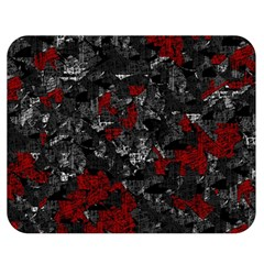 Gray and red decorative art Double Sided Flano Blanket (Medium)