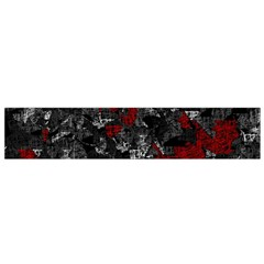 Gray and red decorative art Flano Scarf (Small)