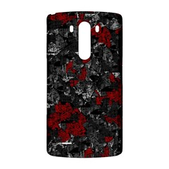 Gray and red decorative art LG G3 Back Case