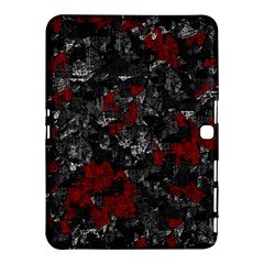 Gray and red decorative art Samsung Galaxy Tab 4 (10.1 ) Hardshell Case