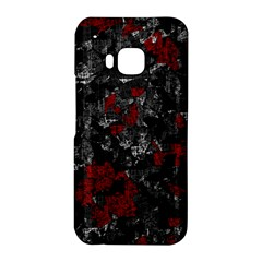 Gray and red decorative art HTC One M9 Hardshell Case
