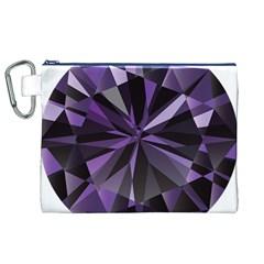 Amethyst Canvas Cosmetic Bag (XL)