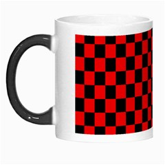 Black And Red Checkerboard Red Black Pattern Morph Mugs