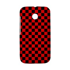 Black And Red Checkerboard Red Black Pattern Motorola Moto E