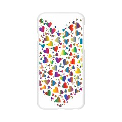 Chaotic Colorful Heart Fractal Apple Seamless iPhone 6/6S Case (Transparent)